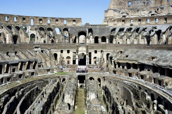 Italy, Rome, Inside view of Colosseum or Coliseum | Ancient Civilizations