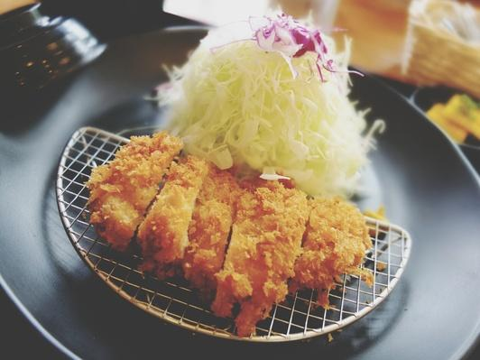 Tonkatsu Served In Plate | Exploring International Cuisine