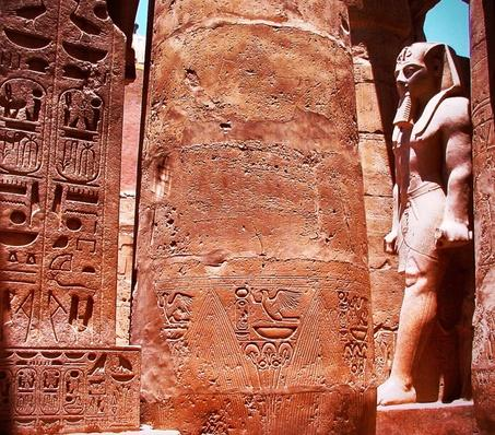 Egyptian Statue And Ornate Column | Ancient Civilizations