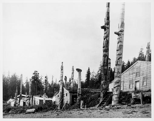 Totem of Haida Indians in Kasaan village | Native American Civilizations | U.S. History