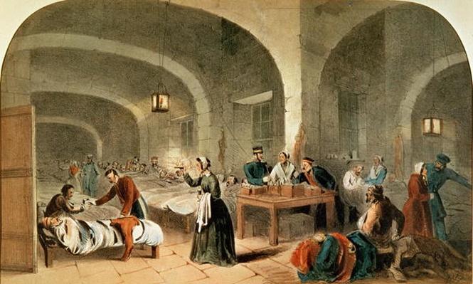 Sketch of a ward at the Hospital at Scutari, c.1856
