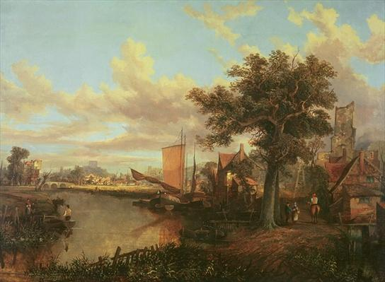 The River Yare with a distant view of Norwich, c.1840