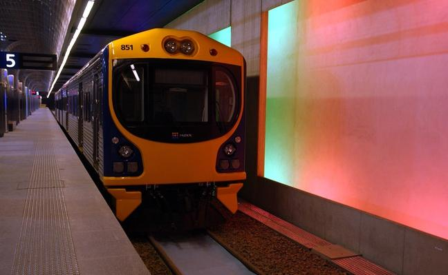 One of the new trains in the Britomart Station in | Evolution of the Railroad (Engine)