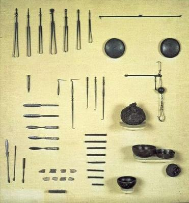 Instruments from an oculist's case, from Reims