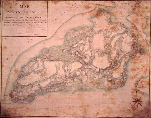 Military map of Staten Island, 1776