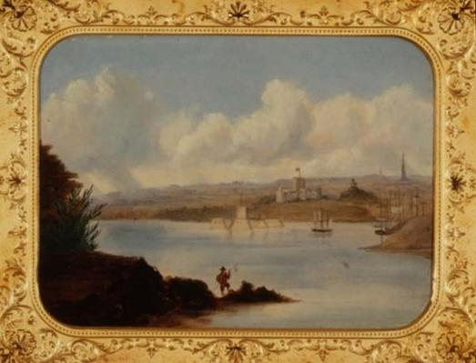 Government House and Pinch Gut Island, Sydney Harbour, 19th century
