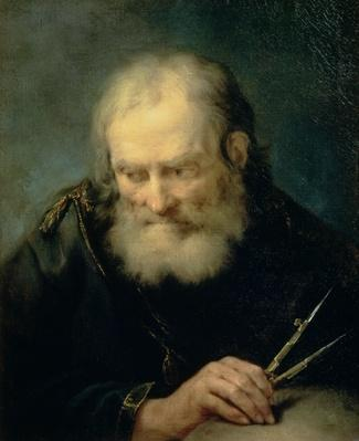 Archimedes (c.287-212 BC) (oil on canvas) | Pre-Industrial Revolution Inventors and Inventions