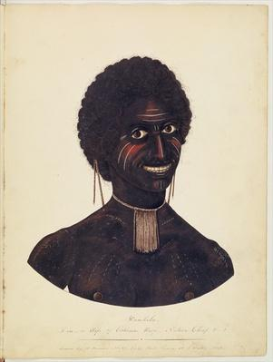 Wambela, wife of Cobbawn Wogi, native chief of Port Stephen, NSW, 1820