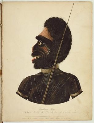 Cobbawn Wogi, native chief of Port Stephen, NSW, 1820