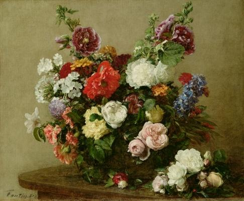 French Roses and Peonies, 1881