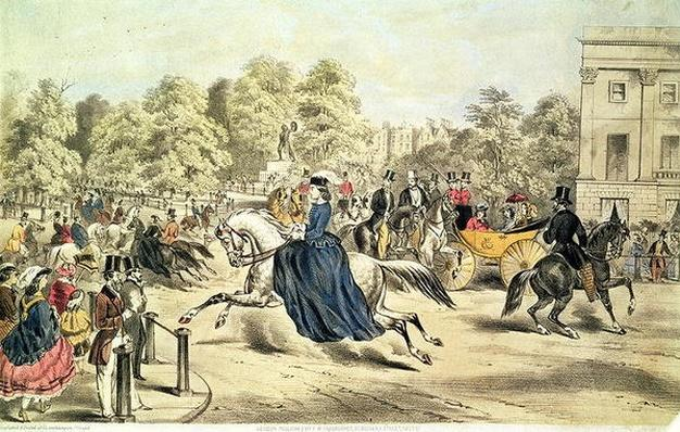 Riding in Rotten Row, Hyde Park