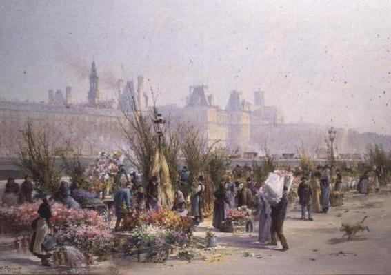Flower Market by the Seine