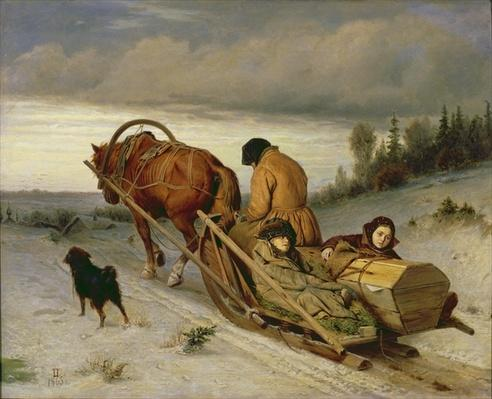 Seeing off the Dead, 1865