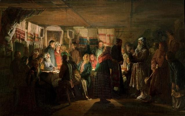 The Visit of a Sorcerer to a Peasant Wedding, 1875