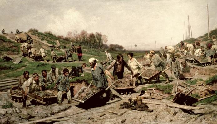 Repairing the Railway, 1874