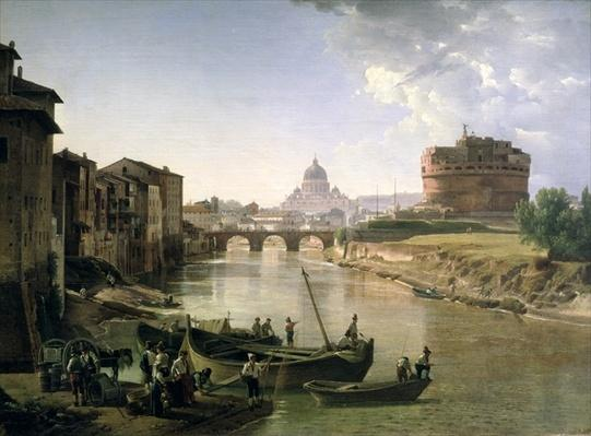 New Rome with the Castel Sant'Angelo, 1825