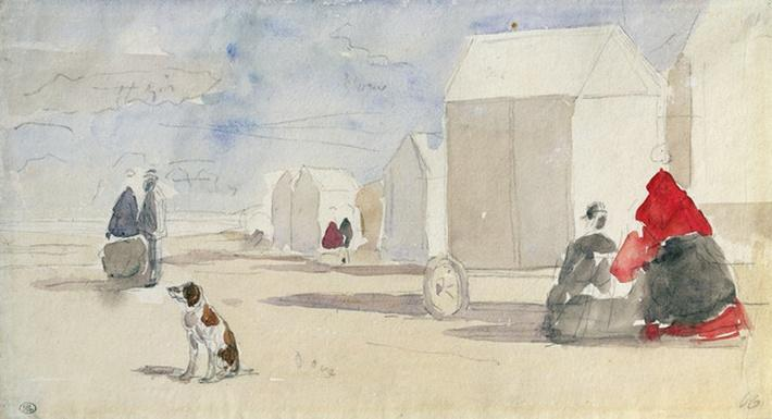 By the Bathing Machines, 1866