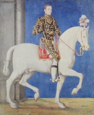 Equestrian Portrait Presumed to be Dauphin Henri II