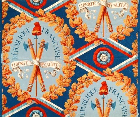 Wallpaper with French Revolutionary Symbols, 30th June 1793