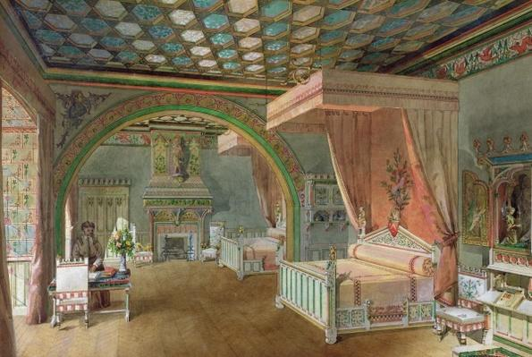 The Pink Room in the Chateau de Roquetaillade, 1868