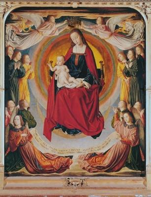Coronation of the Virgin, centre panel from the Bourbon Altarpiece, c.1498