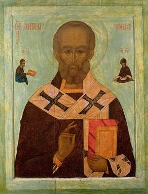 Icon of St. Nicholas, Russian School, 16th century