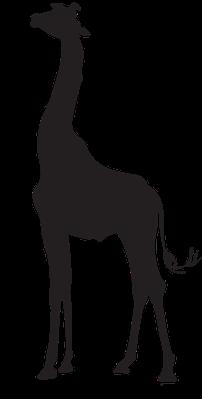 Animal Silhouettes - Giraffe | Clipart