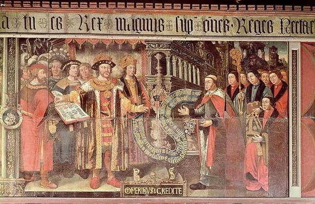 Bishop Robert Sherburne with Henry VIII