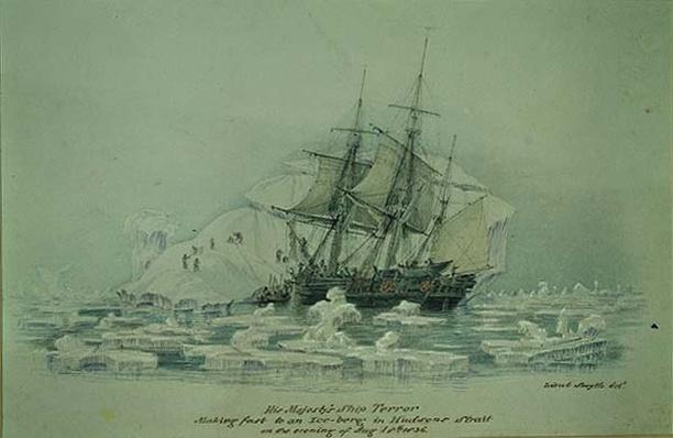 Incidents on a Trading Journey: HMS Terror Making Fast to an Iceberg in Hudson's Strait, August 18th 1836