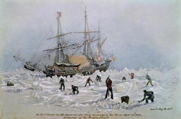Incidents on a Trading Journey: HMS Terror as she Appeared After Being Thrown Up by the Ice in Frozen Channel, September 27th 1836