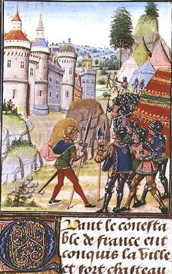 Fr 2643 f.410 The Siege of Brest in 1373, from 'Froissart's Chronicle'