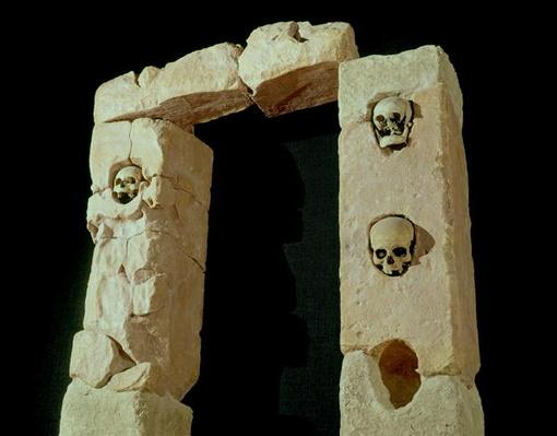 Doorway with Skulls, from the Sanctuary of Roquepertuse, Gaule, La Tene II civilization