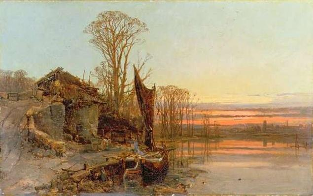 Landscape with a Ruined Cottage at Sunset, 1898