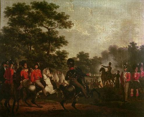 Duke of Wellington visiting outposts, c.1810-15
