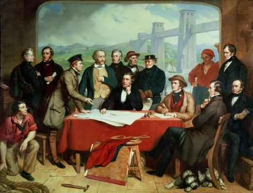 Conference of Engineers at Britannia Bridge, c.1850