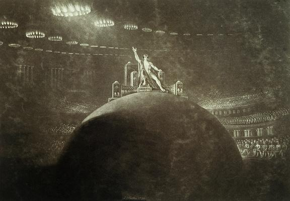 Satan presiding at the Infernal Council, 1824