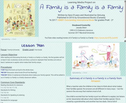 A Family is a Family is a Family Lesson by Jewelia Elliott