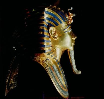 Gold mask of Tutankhamun, from the tomb of Tutankhamun,