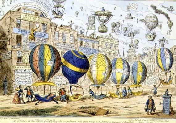 Taxi Balloons, pub. by G. Humphrey, 1825