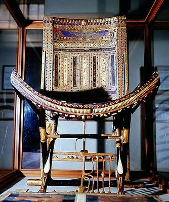 Ecclesiastical chair, from the tomb of Tutankhamun
