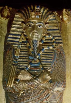 Innermost coffin of Tutankhamun, from the Tomb of Tutankhamun