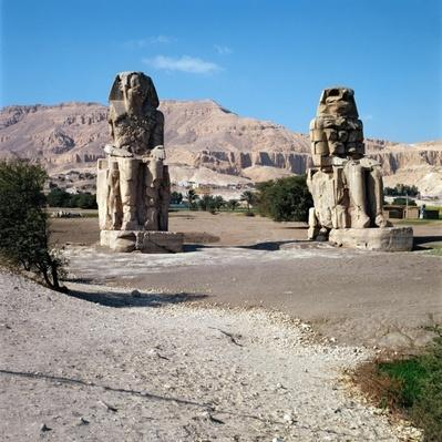 The Colossi of Memnon, statues of Amenhotep III, c.1375-1358 BC