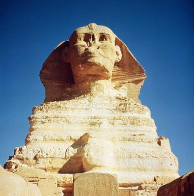 The Sphinx, dating from the reign of King Chephren, Old Kingdom, 2600-2500 BC