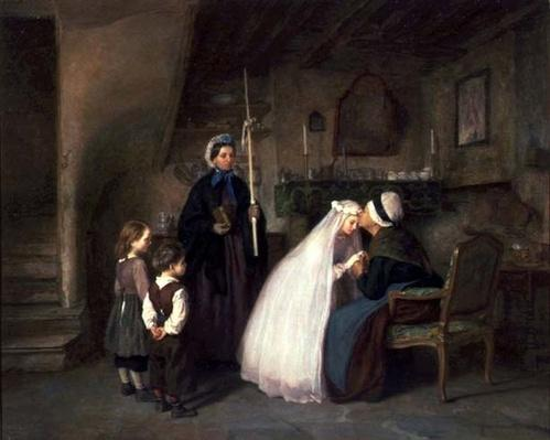The First Communion by Frere, Pierre Edouard (1819-86)