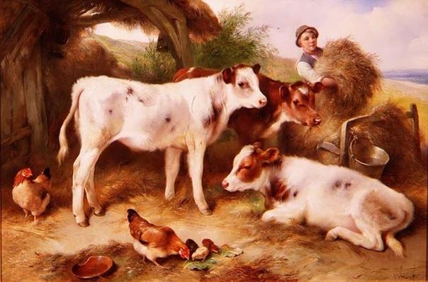 Feeding the Calves, 1931