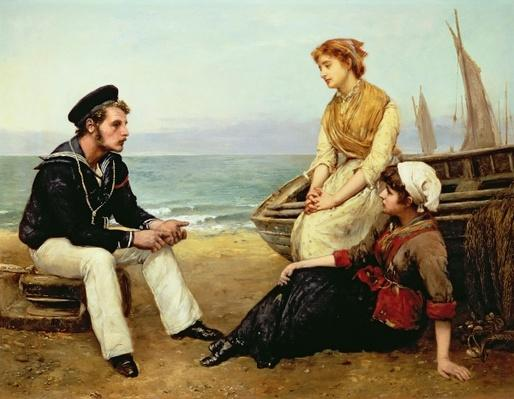 Relating his Adventures, 1881