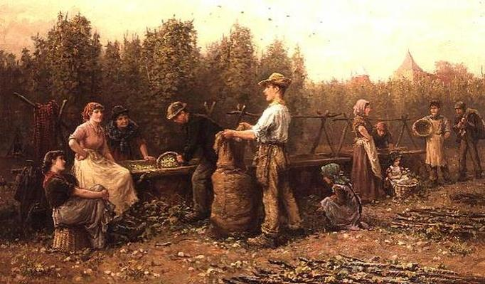 Hop Pickers, late 19th or early 20th century