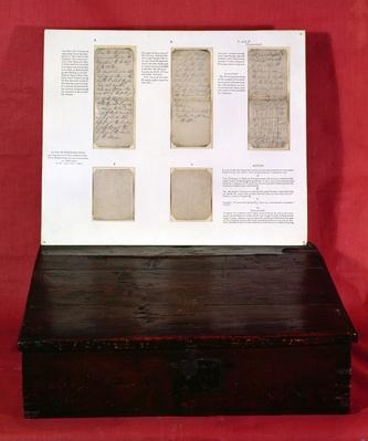 The Duke of Wellington's battle orders inside the lid of his mule chest