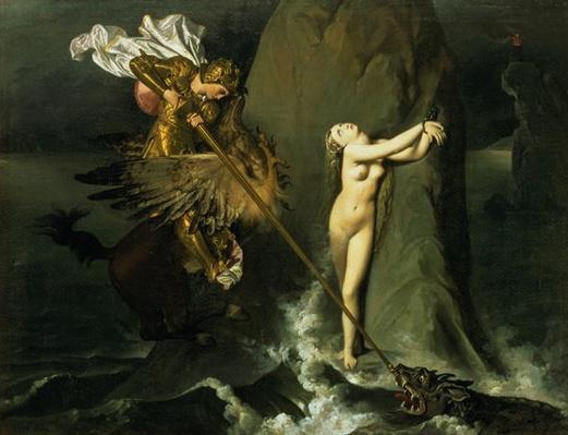 Ruggiero Rescuing Angelica, 1819