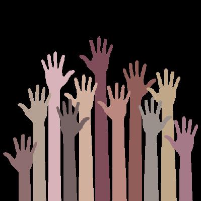 Monochrome Up Hands | Clipart